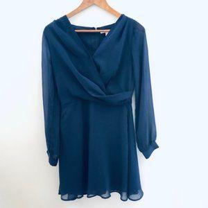 Forever 21 Long Sleeve Dress- Navy  Small
